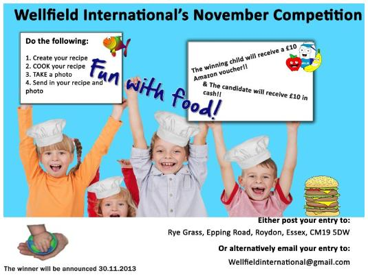 November's 'Fun with Food' Competition